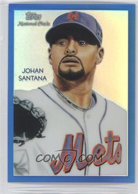 2010 Topps Chrome National Chicle Chrome Blue Refractor #CC22 - Johan Santana /199
