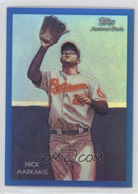 2010 Topps Chrome National Chicle Chrome Blue Refractor #CC24 - Nick Markakis /199