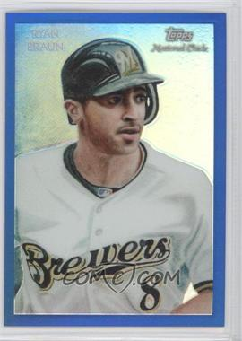 2010 Topps Chrome National Chicle Chrome Blue Refractor #CC30 - Ryan Braun /199