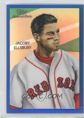 2010 Topps Chrome National Chicle Chrome Blue Refractor #CC8 - Jacoby Ellsbury /199