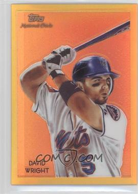 2010 Topps Chrome National Chicle Chrome Gold Refractor #CC11 - David Wright /50