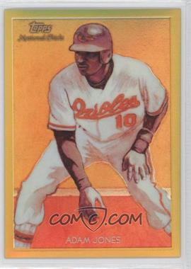 2010 Topps Chrome National Chicle Chrome Gold Refractor #CC26 - Adam Jones /50
