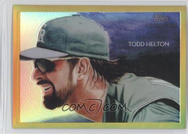 2010 Topps Chrome National Chicle Chrome Gold Refractor #CC34 - Todd Helton /50