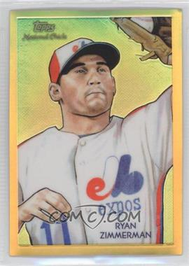 2010 Topps Chrome National Chicle Chrome Gold Refractor #CC49 - Ryan Zimmerman /50