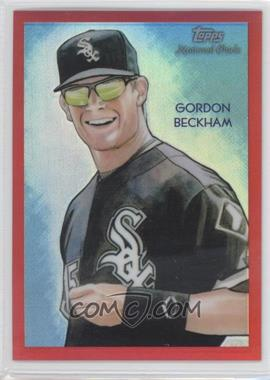 2010 Topps Chrome National Chicle Chrome Red Refractor #CC19 - Gordon Beckham /25