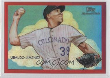 2010 Topps Chrome National Chicle Chrome Red Refractor #CC36 - Ubaldo Jimenez /25