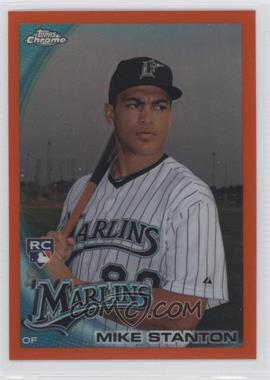 2010 Topps Chrome Orange Refractor #190 - Giancarlo Stanton