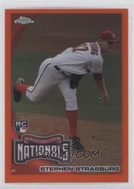 2010 Topps Chrome Orange Refractor #212 - Stephen Strasburg