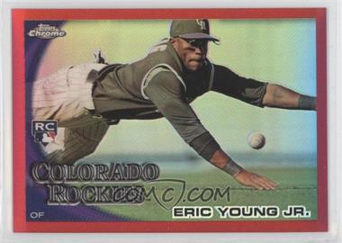 2010 Topps Chrome Red Refractor #171 - Eric Young /25