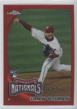 2010 Topps Chrome Red Refractor #216 - Drew Storen /25