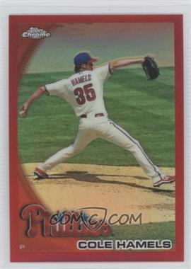 2010 Topps Chrome Red Refractor #24 - Cole Hamels /25