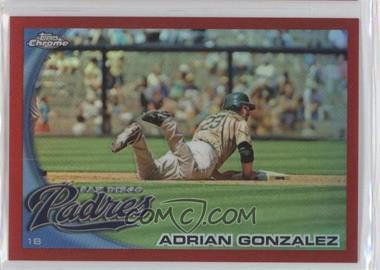 2010 Topps Chrome Red Refractor #25 - Adrian Gonzalez /25