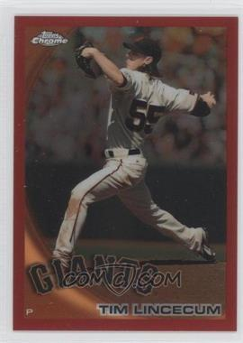 2010 Topps Chrome Red Refractor #27 - Tim Lincecum /25
