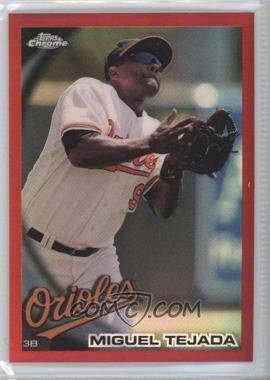 2010 Topps Chrome Red Refractor #52 - Miguel Tejada /25