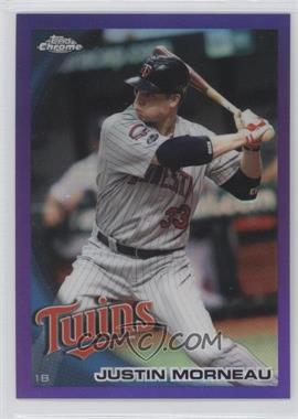 2010 Topps Chrome Retail [Base] Purple Refractor #112 - Justin Morneau /599