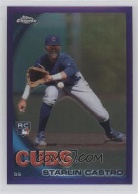 2010 Topps Chrome Retail [Base] Purple Refractor #195 - Starlin Castro /599