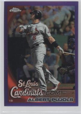 2010 Topps Chrome Retail [Base] Purple Refractor #32 - Albert Pujols /599