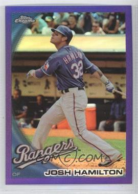 2010 Topps Chrome Retail [Base] Purple Refractor #57 - Josh Hamilton /599