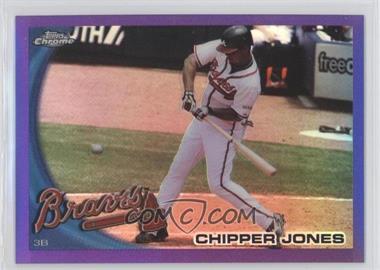 2010 Topps Chrome Retail Purple Refractor #110 - Chipper Jones /599