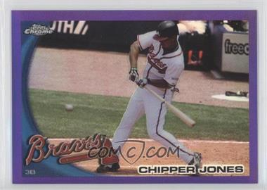2010 Topps Chrome Retail Purple Refractor #110 - Chipper Jones /599