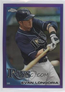 2010 Topps Chrome Retail Purple Refractor #141 - Evan Longoria /599