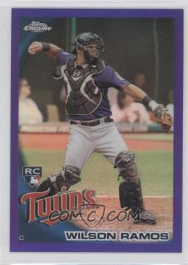 2010 Topps Chrome Retail Purple Refractor #189 - Wilson Ramos /599