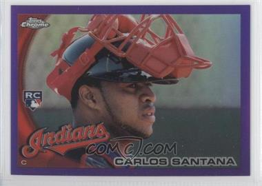 2010 Topps Chrome Retail Purple Refractor #198 - Carlos Santana /599