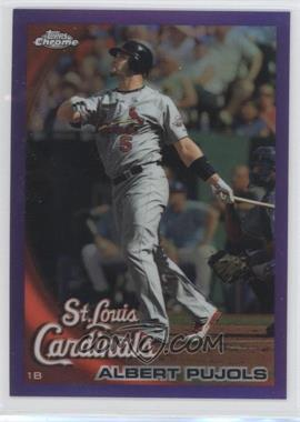 2010 Topps Chrome Retail Purple Refractor #32 - Albert Pujols /599
