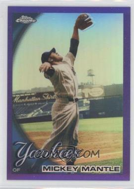 2010 Topps Chrome Retail Purple Refractor #7 - Mickey Mantle /599