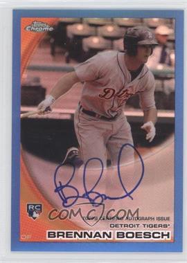 2010 Topps Chrome Rookie Autographs Blue Refractor #182 - Brennan Boesch /199
