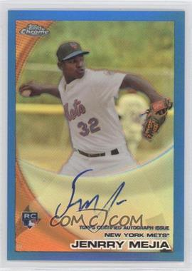 2010 Topps Chrome Rookie Autographs Blue Refractor #200 - Jenrry Mejia /199