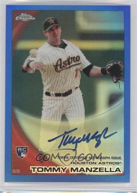 2010 Topps Chrome Rookie Autographs Blue Refractor #207 - Tommy Manzella /199
