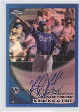 2010 Topps Chrome Rookie Autographs Blue Refractor #215 - Kila Ka'aihue /199