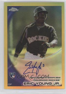 2010 Topps Chrome Rookie Autographs Gold Refractor #171 - Eric Young /50