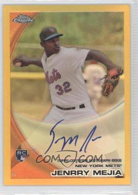 2010 Topps Chrome Rookie Autographs Gold Refractor #200 - Jenrry Mejia /50