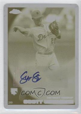 2010 Topps Chrome Rookie Autographs Printing Plate Yellow #175 - Scott Sizemore /1