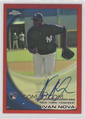 2010 Topps Chrome Rookie Autographs Red Refractor #214 - Ivan Nova /25