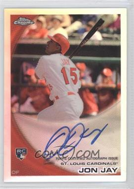 2010 Topps Chrome Rookie Autographs Refractor #178 - Jon Jay /499
