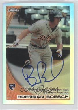 2010 Topps Chrome Rookie Autographs Refractor #182 - Brennan Boesch /499