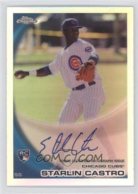 2010 Topps Chrome Rookie Autographs Refractor #195 - Starlin Castro /499