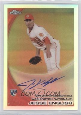2010 Topps Chrome Rookie Autographs Refractor #203 - Jesse English /499