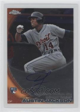 2010 Topps Chrome Rookie Autographs #177 - Austin Jackson
