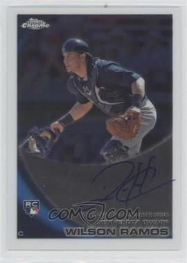 2010 Topps Chrome Rookie Autographs #189 - Wilson Ramos