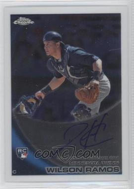 2010 Topps Chrome Rookie Autographs #189 - Wilson Ramos
