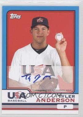 2010 Topps Chrome Team USA Autographs #USA-1 - Tyler Anderson