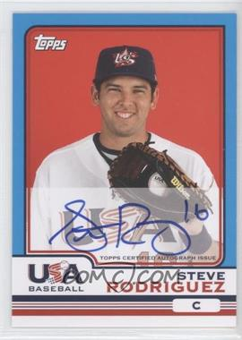 2010 Topps Chrome Team USA Autographs #USA-19 - Steven Rodriguez