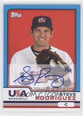 2010 Topps Chrome Team USA Autographs #USA-19 - Steven Rodriguez
