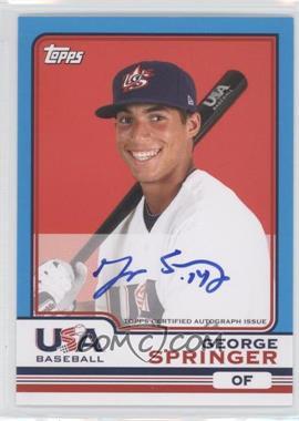2010 Topps Chrome Team USA Autographs #USA-20 - George Springer