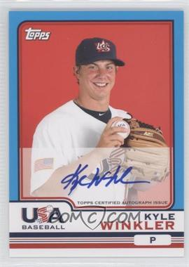 2010 Topps Chrome Team USA Autographs #USA-21 - Kyle Winkler