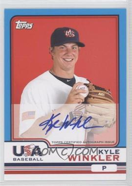 2010 Topps Chrome Team USA Autographs #USA-21 - Kyle Winkler